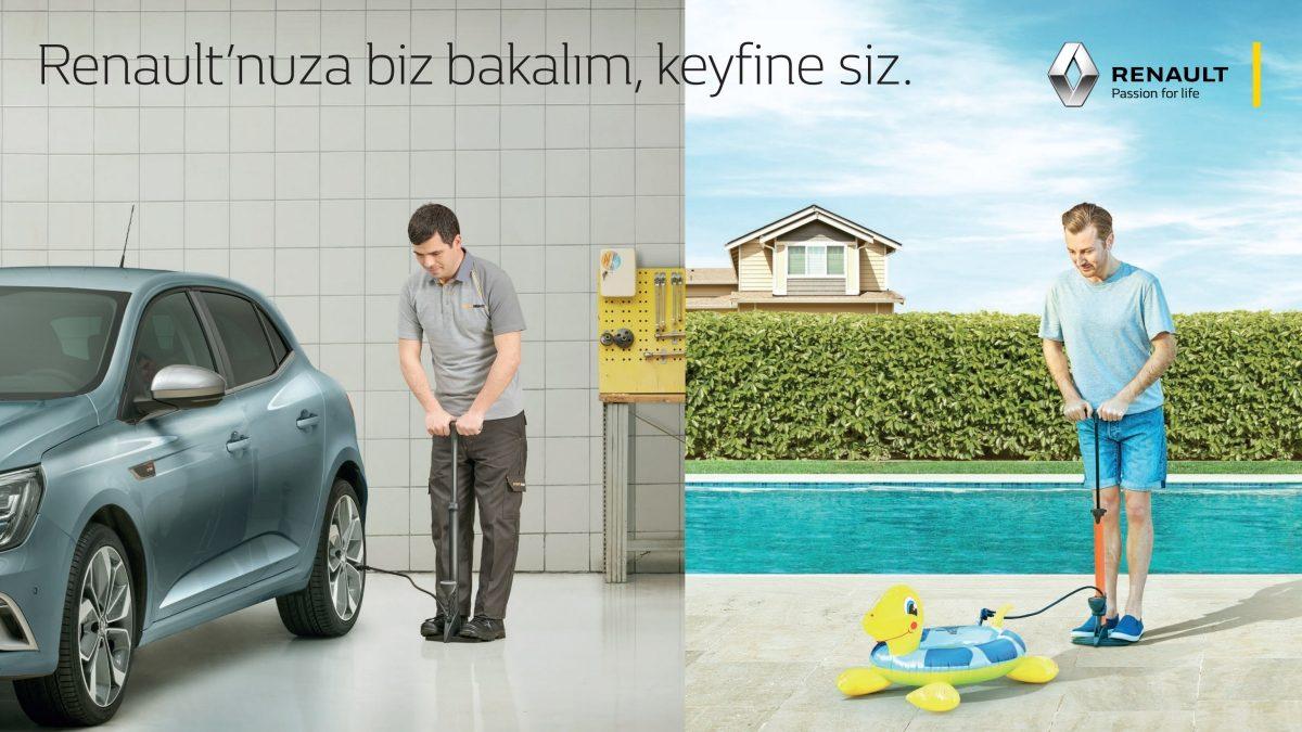 Renault'nuza biz bakalım, keyfine siz.